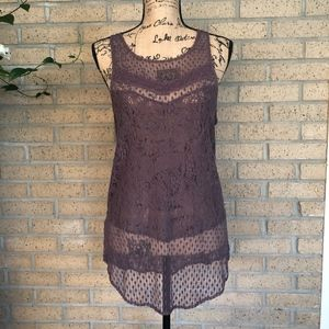 American Eagle Sleeveless Lace Top